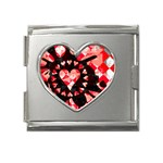 Love Heart Splatter Mega Link Heart Italian Charm (18mm)