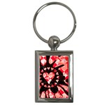Love Heart Splatter Key Chain (Rectangle)