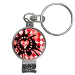 Love Heart Splatter Nail Clippers Key Chain