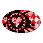Love Heart Splatter Magnet (Oval)