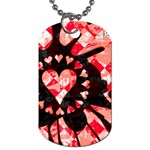 Love Heart Splatter Dog Tag (One Side)