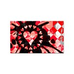 Love Heart Splatter Sticker Rectangular (100 pack)