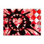 Love Heart Splatter Sticker A4 (100 pack)