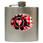 Love Heart Splatter Hip Flask (6 oz)