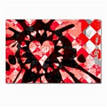 Love Heart Splatter Postcard 4  x 6