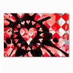 Love Heart Splatter Postcards 5  x 7  (Pkg of 10)