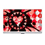 Love Heart Splatter Business Card Holder