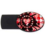 Love Heart Splatter USB Flash Drive Oval (2 GB)