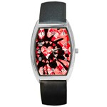 Love Heart Splatter Barrel Style Metal Watch