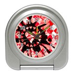 Love Heart Splatter Travel Alarm Clock