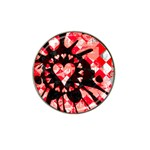 Love Heart Splatter Hat Clip Ball Marker (10 pack)