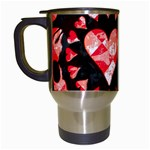 Love Heart Splatter Travel Mug (White)