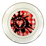 Love Heart Splatter Porcelain Plate