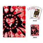 Love Heart Splatter Playing Cards Single Design