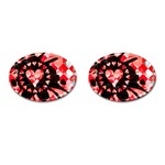 Love Heart Splatter Cufflinks (Oval)