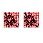 Love Heart Splatter Cufflinks (Square)