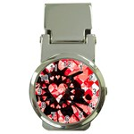 Love Heart Splatter Money Clip Watch