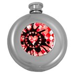 Love Heart Splatter Hip Flask (5 oz)