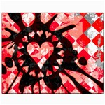 Love Heart Splatter Canvas 8  x 10