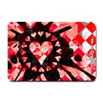 Love Heart Splatter Small Doormat