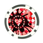 Love Heart Splatter Poker Chip Card Guard