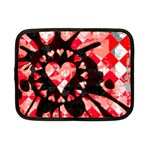 Love Heart Splatter Netbook Case (Small)