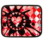 Love Heart Splatter Netbook Case (Large)