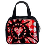 Love Heart Splatter Classic Handbag (Two Sides)