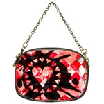 Love Heart Splatter Chain Purse (One Side)