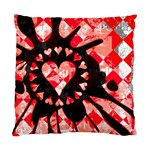Love Heart Splatter Cushion Case (One Side)