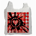 Love Heart Splatter Recycle Bag (Two Side)