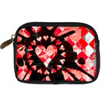 Love Heart Splatter Digital Camera Leather Case