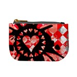 Love Heart Splatter Mini Coin Purse
