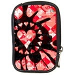 Love Heart Splatter Compact Camera Leather Case