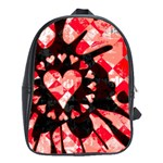 Love Heart Splatter School Bag (Large)