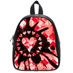 Love Heart Splatter School Bag (Small)