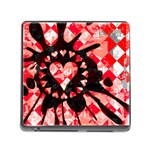 Love Heart Splatter Memory Card Reader with Storage (Square)