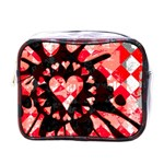 Love Heart Splatter Mini Toiletries Bag (One Side)