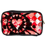 Love Heart Splatter Toiletries Bag (One Side)