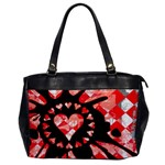 Love Heart Splatter Oversize Office Handbag (One Side)