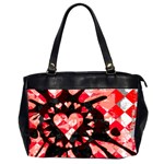 Love Heart Splatter Oversize Office Handbag (Two Sides)