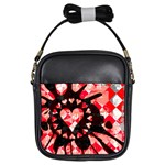 Love Heart Splatter Girls Sling Bag