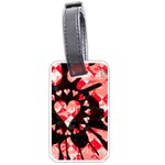 Love Heart Splatter Luggage Tag (one side)