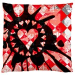 Love Heart Splatter Large Cushion Case (One Side)