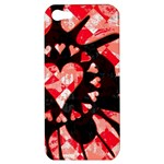 Love Heart Splatter Apple iPhone 5 Hardshell Case