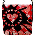 Love Heart Splatter Flap closure messenger bag (Small)