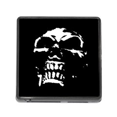 Morbid Skull Memory Card Reader with Storage (Square) from ArtsNow.com Front