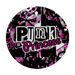 Punk Princess Round Ornament (Two Sides)