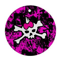 Punk Skull Princess Ornament (Round) from ArtsNow.com Front