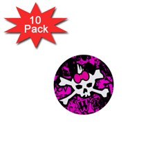 Punk Skull Princess 1  Mini Button (10 pack)  from ArtsNow.com Front